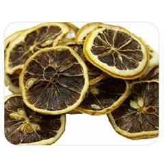 Lemon Dried Fruit Orange Isolated Double Sided Flano Blanket (medium)  by Nexatart