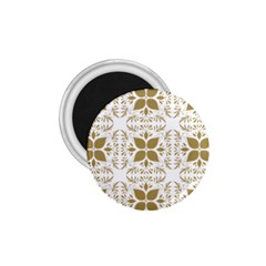Pattern Gold Floral Texture Design 1 75  Magnets by Nexatart