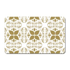Pattern Gold Floral Texture Design Magnet (rectangular) by Nexatart