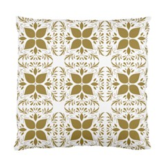 Pattern Gold Floral Texture Design Standard Cushion Case (one Side) by Nexatart