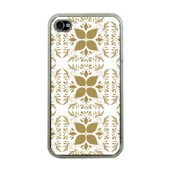 Pattern Gold Floral Texture Design Apple Iphone 4 Case (clear) by Nexatart