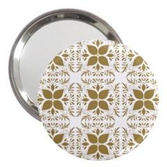 Pattern Gold Floral Texture Design 3  Handbag Mirrors