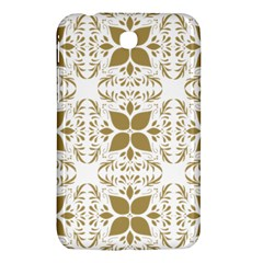 Pattern Gold Floral Texture Design Samsung Galaxy Tab 3 (7 ) P3200 Hardshell Case  by Nexatart
