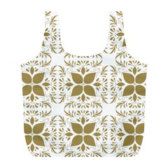 Pattern Gold Floral Texture Design Full Print Recycle Bags (l)  by Nexatart