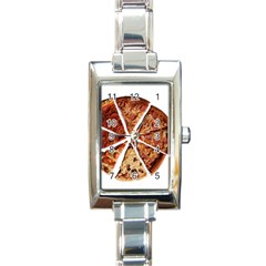 Food Fast Pizza Fast Food Rectangle Italian Charm Watch by Nexatart