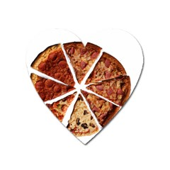 Food Fast Pizza Fast Food Heart Magnet by Nexatart