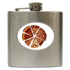 Food Fast Pizza Fast Food Hip Flask (6 Oz) by Nexatart