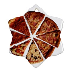 Food Fast Pizza Fast Food Snowflake Ornament (two Sides) by Nexatart