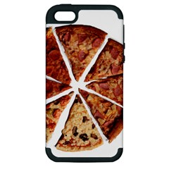 Food Fast Pizza Fast Food Apple Iphone 5 Hardshell Case (pc+silicone) by Nexatart