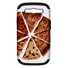 Food Fast Pizza Fast Food Samsung Galaxy S Iii Hardshell Case (pc+silicone) by Nexatart