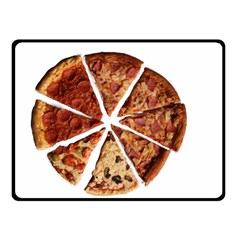 Food Fast Pizza Fast Food Double Sided Fleece Blanket (small)  by Nexatart