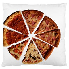 Food Fast Pizza Fast Food Large Flano Cushion Case (one Side) by Nexatart