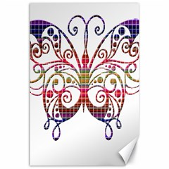 Butterfly Nature Abstract Beautiful Canvas 24  X 36  by Nexatart