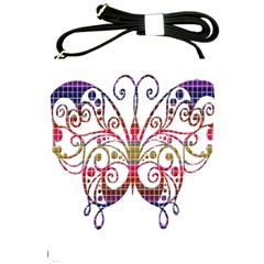 Butterfly Nature Abstract Beautiful Shoulder Sling Bags by Nexatart
