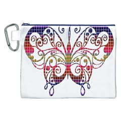 Butterfly Nature Abstract Beautiful Canvas Cosmetic Bag (xxl) by Nexatart