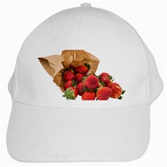 Strawberries Fruit Food Delicious White Cap by Nexatart