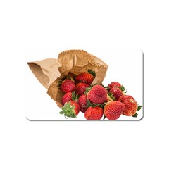Strawberries Fruit Food Delicious Magnet (name Card) by Nexatart