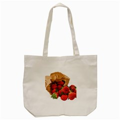 Strawberries Fruit Food Delicious Tote Bag (cream) by Nexatart