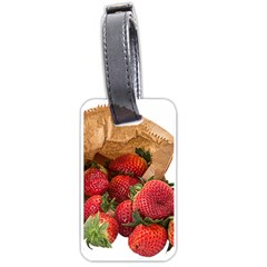 Strawberries Fruit Food Delicious Luggage Tags (one Side)  by Nexatart
