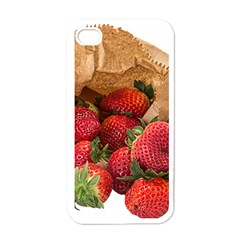 Strawberries Fruit Food Delicious Apple iPhone 4 Case (White)