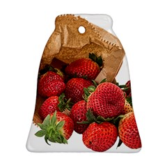 Strawberries Fruit Food Delicious Ornament (bell) by Nexatart