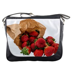 Strawberries Fruit Food Delicious Messenger Bags by Nexatart