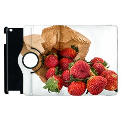 Strawberries Fruit Food Delicious Apple Ipad 3/4 Flip 360 Case by Nexatart