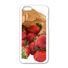 Strawberries Fruit Food Delicious Apple Iphone 6/6s White Enamel Case by Nexatart