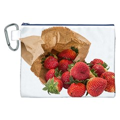Strawberries Fruit Food Delicious Canvas Cosmetic Bag (xxl)