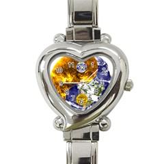 Design Yin Yang Balance Sun Earth Heart Italian Charm Watch by Nexatart