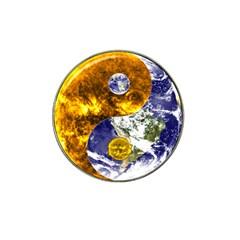 Design Yin Yang Balance Sun Earth Hat Clip Ball Marker (4 Pack) by Nexatart