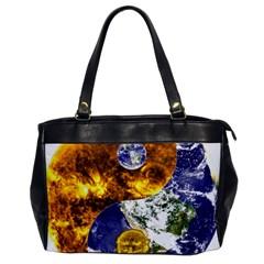 Design Yin Yang Balance Sun Earth Office Handbags by Nexatart