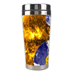 Design Yin Yang Balance Sun Earth Stainless Steel Travel Tumblers by Nexatart