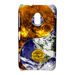Design Yin Yang Balance Sun Earth Nokia Lumia 620 by Nexatart