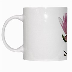 Namaste   Lotus White Mugs by Valentinaart