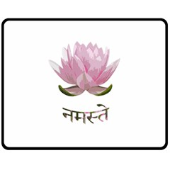Namaste   Lotus Fleece Blanket (medium)  by Valentinaart