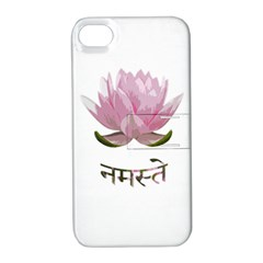 Namaste   Lotus Apple Iphone 4/4s Hardshell Case With Stand by Valentinaart
