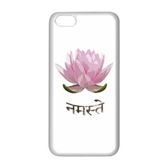 Namaste   Lotus Apple Iphone 5c Seamless Case (white) by Valentinaart