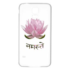 Namaste   Lotus Samsung Galaxy S5 Back Case (white) by Valentinaart