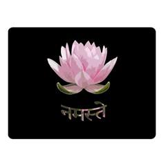 Namaste   Lotus Fleece Blanket (small) by Valentinaart