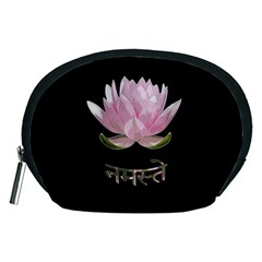 Namaste   Lotus Accessory Pouches (medium)  by Valentinaart