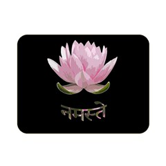 Namaste   Lotus Double Sided Flano Blanket (mini)  by Valentinaart