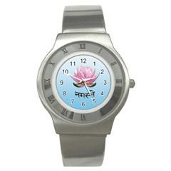 Namaste   Lotus Stainless Steel Watch by Valentinaart