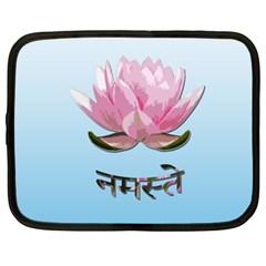 Namaste   Lotus Netbook Case (xl)