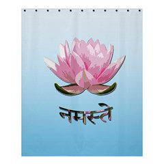 Namaste   Lotus Shower Curtain 60  X 72  (medium)  by Valentinaart
