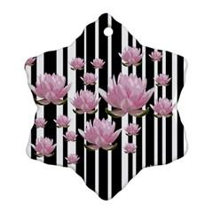 Namaste   Lotus Snowflake Ornament (two Sides) by Valentinaart