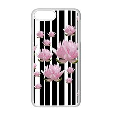 Namaste   Lotus Apple Iphone 7 Plus White Seamless Case by Valentinaart