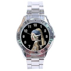 The Girl With The Pearl Earring Stainless Steel Analogue Watch by Valentinaart
