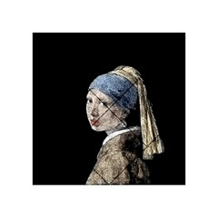 The Girl With The Pearl Earring Acrylic Tangram Puzzle (4  X 4 ) by Valentinaart