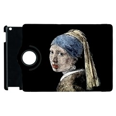 The Girl With The Pearl Earring Apple Ipad 2 Flip 360 Case by Valentinaart